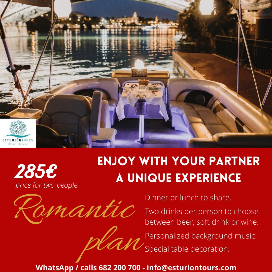 romantic dinner esturion tours
